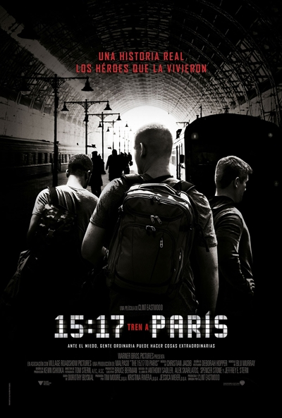 15:17 Tren a París  Drama / 2018 / EE.UU / 94 minutos