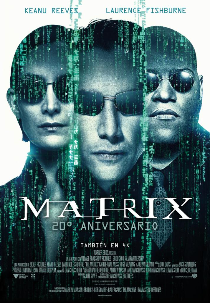 """""""THE MATRIX"""". 20th ANIVERSARIO  Ciencia-ficción / 2019 / 138 minutos"""