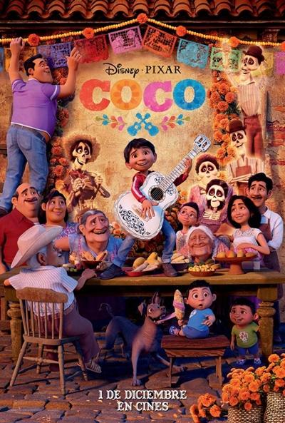 Coco  Animación / 2017 / Estados Unidos / 105 minutos