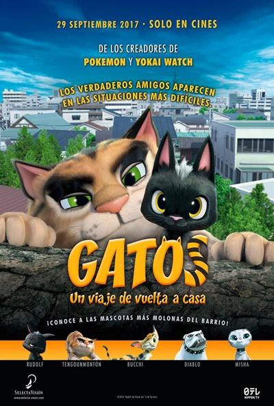 Gatos. Un viaje de vuelta a casa  Animación / 2016 / Japón / 89 minutos