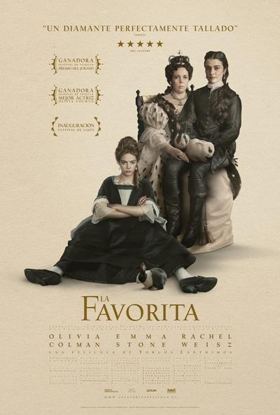 La favorita  Drama / 2019 / Reino Unido / 119 minutos