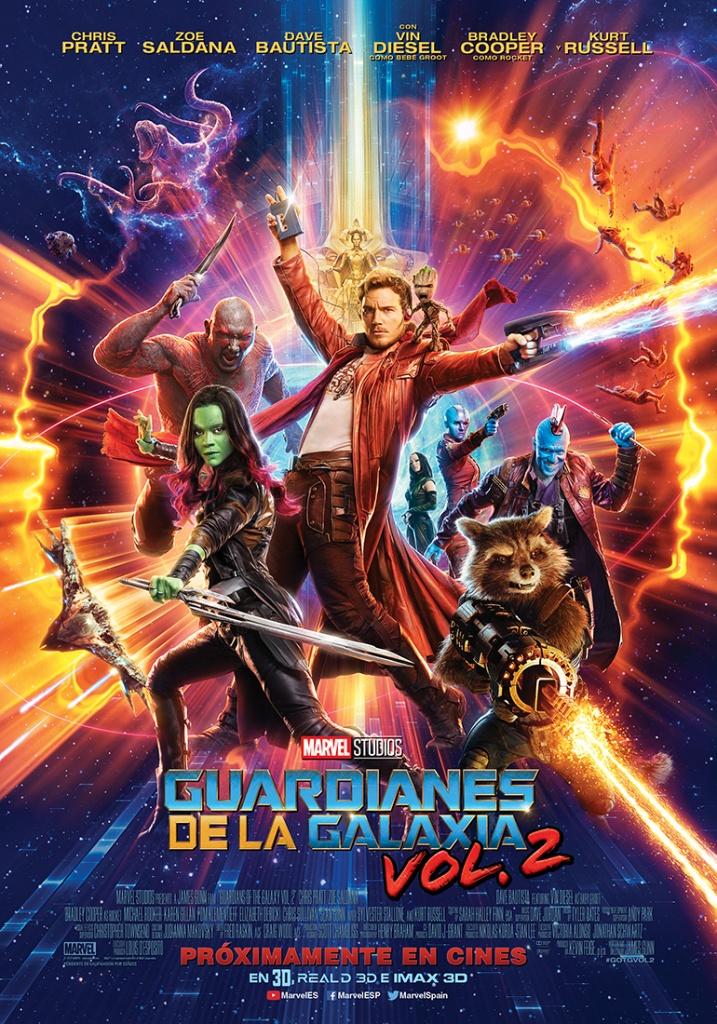 Guardianes de la galaxia Vol. 2  Ciencia-ficción / 2017 / EE.UU / 135 minutos