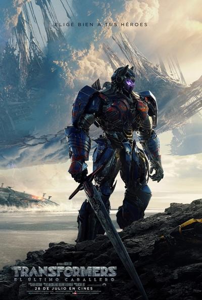 Transformers: El último caballero  Acción / 2017 / 150 minutos