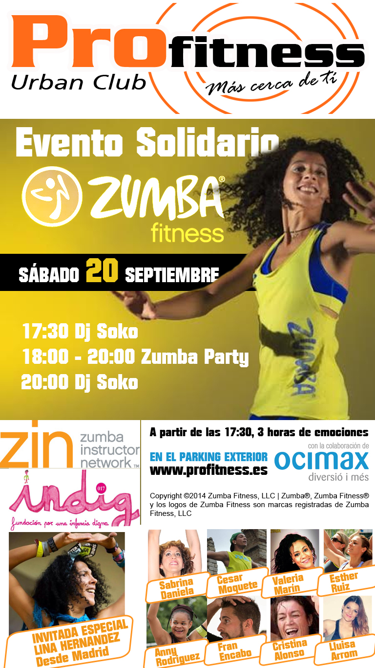 evento solidario zumba